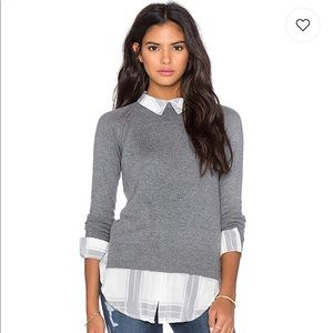 Cambridge Layered Sweater Grey  Central Park West